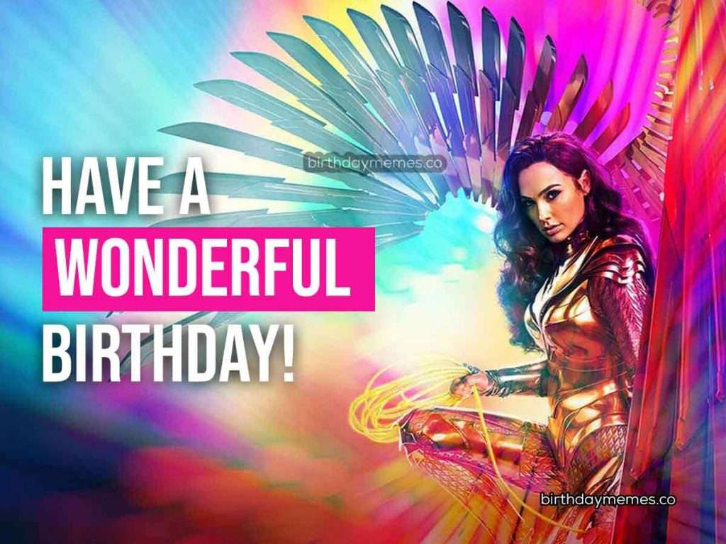 Wonder Woman Birthday Meme