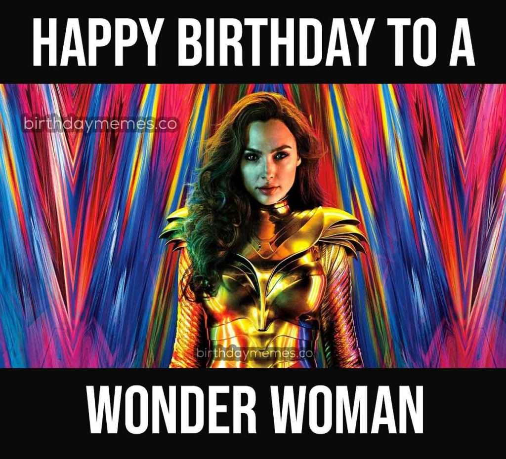 Wonder Woman Happy Birthday Meme